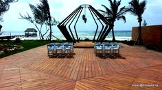 Azul Fives, Rivera Maya. A Gourmet all inclusive resort. This area is perfect for the ceremony and the reception