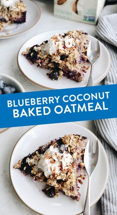 Change up your breakfast game with this Blueberry Coconut Baked Oatmeal. An easy, vegan, breakfast option that you can bake ahead of time for weekday breakfasts or fresh for a fancy weekend brunch. Easy Delicious Recipes, Delicious Desserts, Yummy Food, Healthy Breakfast Recipes, Vegan Breakfast, Breakfast Ideas, Healthy Breakfasts, Brunch Recipes, Nutritious Breakfast