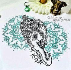 Ganesh/Mandala Collaboration Series Piece 1 Print by Dotified