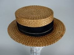 ebeeea1e46f Items similar to Men s Straw Boater Hat