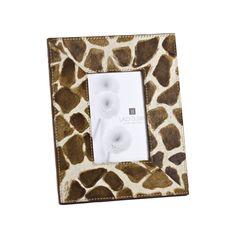Faux Pony Giraffe Print Frame | LazySusanUSA
