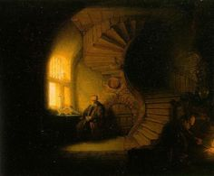 TOUCH this image: The Philosopher, Rembrandt by Maite Fresnillo