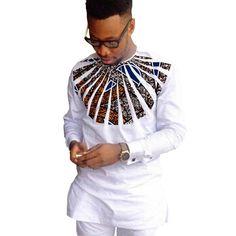 African Shirts For Men Patchwork O-Neck Dashiki Kitenge Tops African Clothing African Fashion Designers, Latest African Fashion Dresses, African Men Fashion, Africa Fashion, Fashion Women, African Shirts For Men, African Clothing For Men, African Clothes, Traditional African Clothing