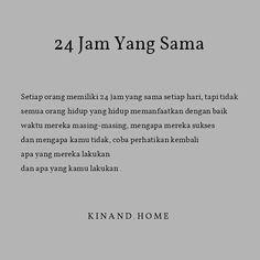 """3,357 Suka, 4 Komentar - RUMAH SEHAT KINAND (@kinand.home) di Instagram: """"Mereka yang sukses tidak karna di takdirkan terlahir sebagai manusia yang sukses, mereka yang gagal…"""" Allah Quotes, Muslim Quotes, Islamic Quotes, Reminder Quotes, Self Reminder, Story Quotes, Words Quotes, Best Quotes, Love Quotes"""