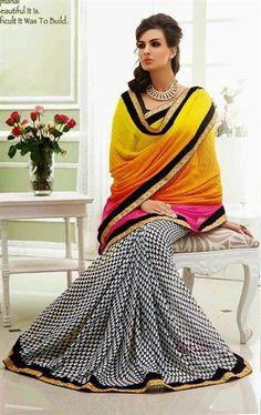 Picture of Dazzling Multi Color Casual Saree