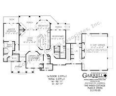 Wilks Cottage House Plan 09096 1st Floor, Craftsman House Plans, Mountain House Plans