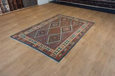 Hand Woven Mazar Kilim from Afghanistan. Length: 253.0cm by Width: 178.0cm. Only £284 at https://www.olneyrugs.co.uk/shop/kilims-for-sale/afghan-mazar-22032.html    Come and look at our charming variety of oriental carpets, footstools and Kilim cushions at www.olneyrugs.co.uk