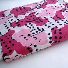 50's Vintage Cotton Fabric Yardage Pink by InWiththeOldVintage, $18.00