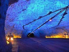 Lärdal Tunnel grot, Norway