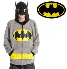 Officially Licensed DC Comics Batman Hoodie http://coolpile.com/gear-magazine/officially-licensed-dc-comics-batman-hoodie/ via CoolPile.com   Batman, Clothing, Cool, Cotton, DC Comics, Gifts For Him, Polyester