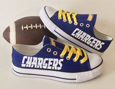 San Diego Chargers Women's Athletic Shoes by Sportzunlimited