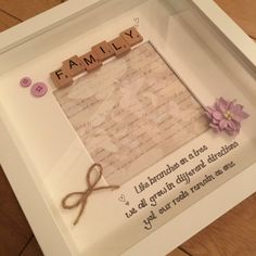 Personalised scrabble frame family by BethsFamilyFrames on Etsy