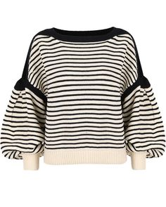 Celebrity Style Women Cut Out Shoulder Puffy Sleeve Crop Knitted Sweater Jumper Tops Pullover Knitwear
