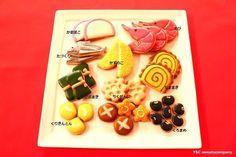 Bento Y&C sweets company Meringue Cookies, Sugar Cookies, Japanese Cookies, Happy New Year 2015, Fusion Food, Cookie Designs, Cookie Decorating, Decorating Ideas, New Pins