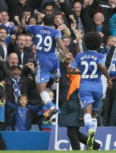 This is what it meant to Samuel Eto'o to score his first goal for Chelsea... #CFC