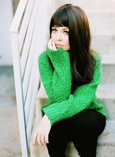 green and black - anna karina inspired style | designlovefest