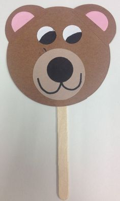 Bear Craft: use it later to make up stories about what might happen camping and you see a bear or hide the bear in the classroom or a cave for going on a bear hunt. Bear Crafts Preschool, Toddler Crafts, Craft Activities, Crafts For Kids, Diy Crafts, Teddy Bear Crafts, Teddy Bear Day, Teddy Bears, 3 Bears
