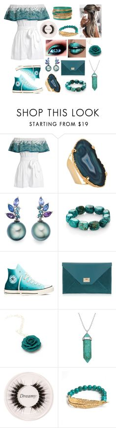 """""""Mara Hoffman"""" by sofiagarcia-27 ❤ liked on Polyvore featuring Mara Hoffman, Valerie Nahmani Designs, Nest, Converse, Jimmy Choo, Lord & Taylor, Certifeye, LeiVanKash and Forever 21"""