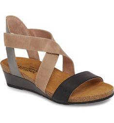 Vixen Wedge Sandal,                          Main,                          color, Oily Coal Leather