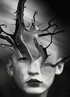 Antonio Mora artista spagnolo al quale piace creare cocktail combinando, attraverso una fusione digitale, ritratti fotografici con paesaggi.