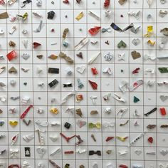 An Amazing Display of 8,000 Tiny Colorful Paper Sculptures Made From Chopstick Sleeves #carinsurance
