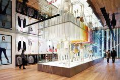 Uniqlo flagship store via @dcwdesign.