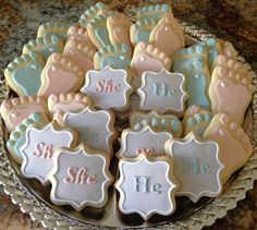 Gender Reveal cookies                                                                                                                                                                                 Mais