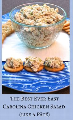 Chicken salad the way it's meant to be-- simple clean flavors and the perfect texture.