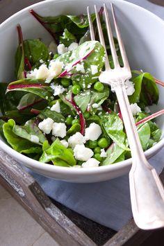 Insalata Primavera – Frühlingssalat mit Erbsen und Ziegenkäse