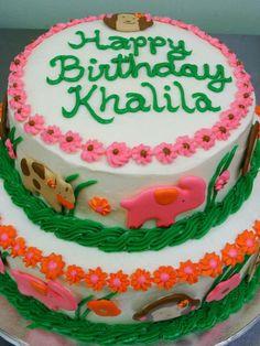 Junhle themed birthday cake.