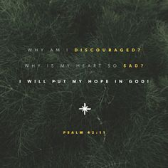 Why, my soul, are you downcast? Why so disturbed within me? Put your hope in God, for I will yet praise him, my Savior and my God. Psalm 42:11 #hopeingod