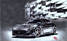 Maserati Granturismo Damian Garbula Draw