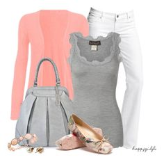PINK & GREY by happygirljlc on Polyvore featuring polyvore fashion style Rosemunde TSM The Swedish Model Majolie Collections American Apparel Citizens of Humanity