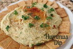 Homemade Hummus- just throw it in your blender and you are good to go! SixSistersStuff.com