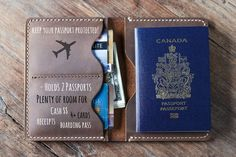 Leather Travel Wallet 021-2