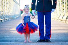 Items similar to The Marine Brat- United States Marine Inspired Tutu Dress perfect for coming home celebrations on Etsy Military Family Photos, Military Love, Usmc, Marines, Rustic Red Wedding, Crochet Tutu, Once A Marine, Marine Colors, Harajuku