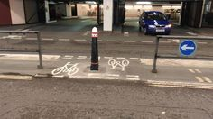 Nice new bike only access created by @Squarehighways in Beech Street. Allows bike right turn. Cars left only