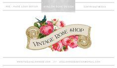 Vintage Rose Shop Premade Logo