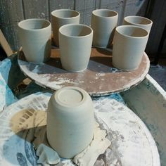 The #mugs getting ready #pottery #Ceramic #clay #thrown #melbourne #melbournehandmade