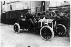 1908 Fiat 50 hp at Targa Florio, finished 2nd driven by Vincenzo Lancia