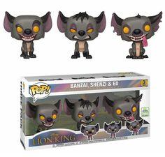 Funko Pop Disney The Lion King Hyenas Banzai Shenzi Ed 3 Pack Vinyl Exclusive Disney Pop, Disney Pixar, Disney Marvel, Figurines D'action, Toy Art, Batman Figures, Vinyl Figures, Funko Pop Figures, Pop Marvel