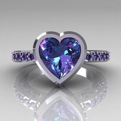 $2.65 - 925 Silver Gorgeous 2.35Ct Romantic Amethyst Heart Rings Engagement Size 6-10 #ebay #Fashion