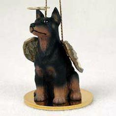 Doberman Pinscher Christmas Ornament Angel $13.00