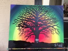 Rainbow Tree of Life. Can be found on Etsy at SharonsOils.