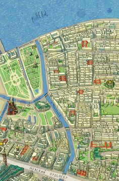 Natalia Grebionkina - St Petersburg by foot map detail