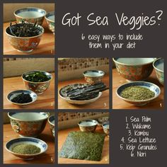 Got Sea Veggies? 6 easy ways to include them in your diet. #Healthy Food.
