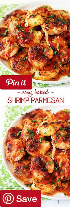 DIY DIY Baked Shrimp Parmesan - Ingredients  Seafood  26 count 1 pound large shrimp large  Produce  1 Parsley fresh  Condiments  1  cups Arriabatta sauce  Baking & Spices  1 Salt and pepper  Oils & Vinegars  1 Olive oil  Dairy  1  cups Mozzarella cheese  2 tbsp Parmesan cheese @ICookUEat
