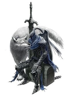 Never saw the pair together till now As epic as it look......man that's kind of adorable. Makes you even sadder when you have to kill both of them. Also...kind of ruins the moment if the chest Artorias is sitting on turns out to be a Mimic.....heh heh