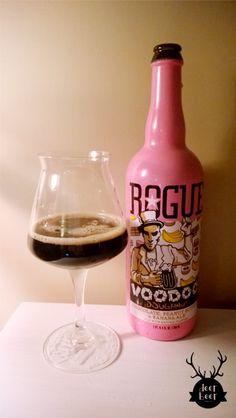 Rogue - Voodoo Doughnut Chocolate, Banana & Peanut Butter Ale #beer #deerbeer #godsavethebeer #rogue #tastyale #ale