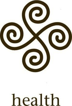 """HEALTH Symbol Tola The celtic spiral knot symbolism. A symbol of harmony between the """"threes"""" in life. symbols that represent strength and love Rune Symbols, Yoga Symbols, Celtic Symbols, Runes, Symbols That Represent Strength, Symbols Of Strength, Celtic Spiral Knot, Unalome Tattoo, Health Symbol"""